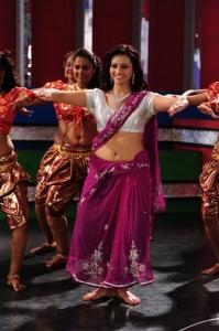 Actress Isha Chawla Hot New Stills in Pink Saree