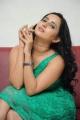 Actress Ishika Singh Green Dress Hot Stills