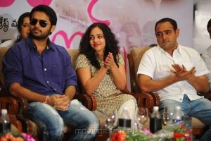 Nithin, Nithya Menon, Vikram K Kumar at  Ishq 100 days function