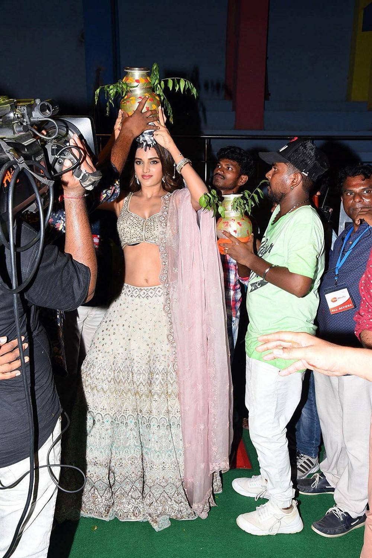 Actress Nidhhi Agerwal @ Ismart Shankar Audio Launch Stills