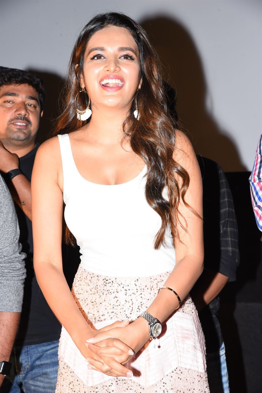 Nidhi Agarwal @ iSmart Shankar Success Tour @ Gajuwaka & Kakinada Photos