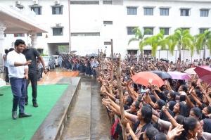 Actor Sharwanand @ Jaanu Movie Team visit Vizag Raghu Engineering College Stills