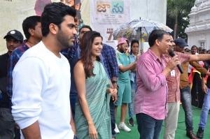 Sharwanand, Samantha, Dil Raju @ Jaanu Movie Team visit Vizag Raghu Engineering College Stills
