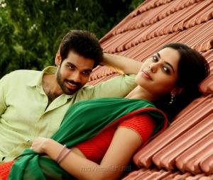 Sibiraj, Bindu Madhavi in Jackson Durai Movie Photos