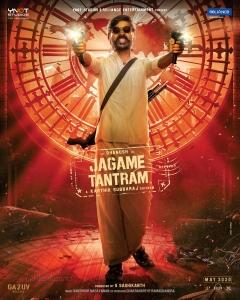 Actor Dhanush Jagame Tantram Movie First Look Posters HD