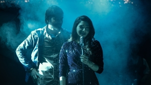 Dhanush, Aishwarya Lekshmi in Jagame Thanthiram Movie HD Images
