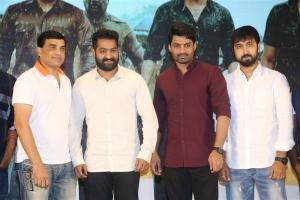 Dil Raju, Jr NTR, Kalyan Ram, Bobby @ Jai Lava Kusa Success Meet Stills