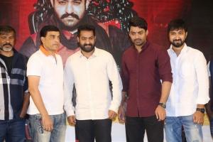 Dil Raju, Jr NTR, Kalyan Ram, KS Ravindra @ Jai Lava Kusa Success Meet Stills