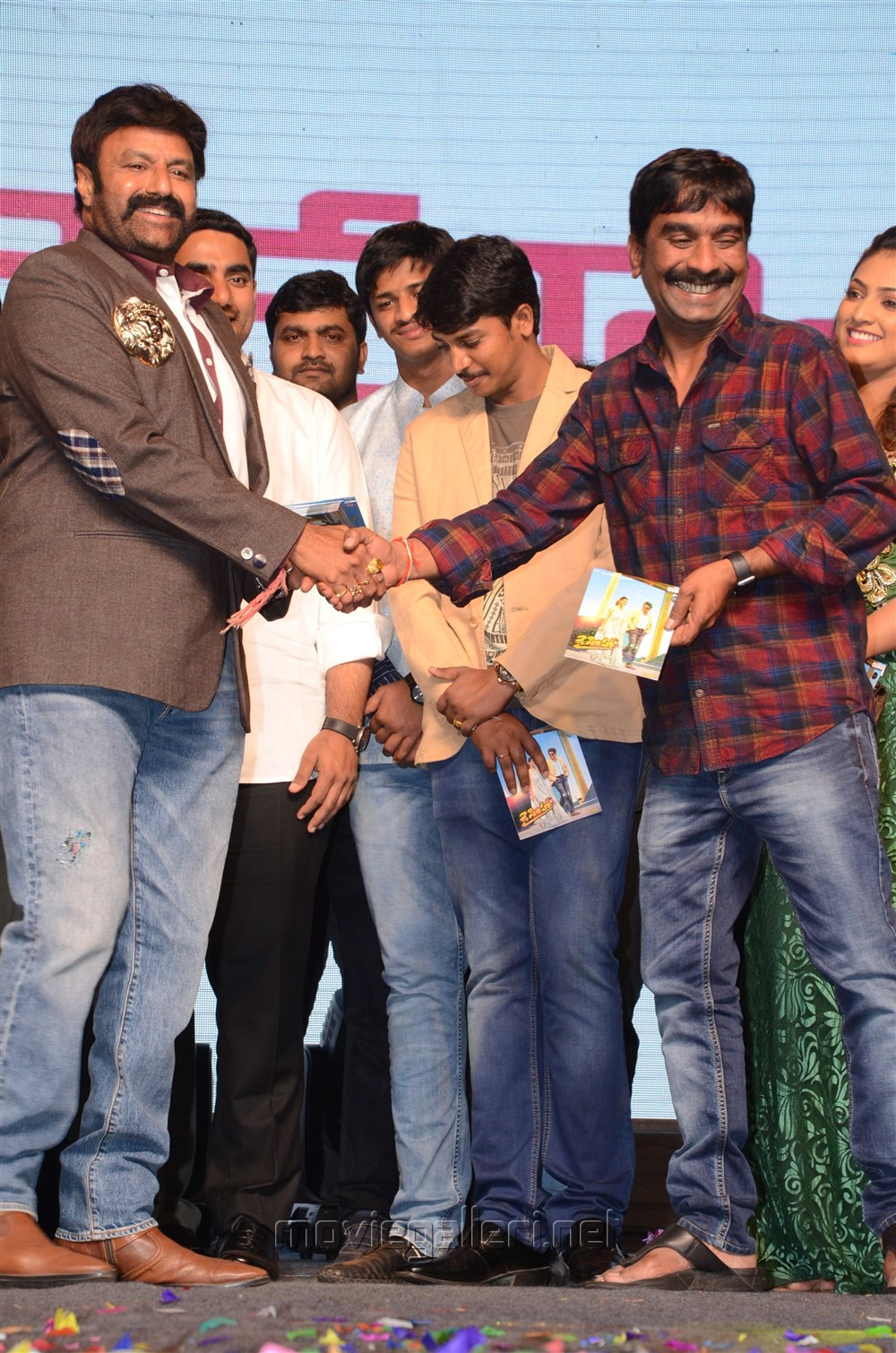 Balakrishna, Bhaskarabhatla @ Jai Simha Audio Release Function Photos