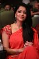 Actress Janani Iyer Red Saree Stills @ V4 MGR SIVAJI Awards 2018