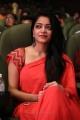 Tamil Actress Janani Iyer Red Saree Stills
