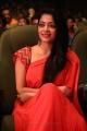 Actress Janani Iyer Red Saree Stills @ V4 MGR Sivaji Academy Awards 2018
