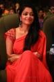 Actress Janani Iyer Red Saree Stills @ V4 MGR Sivaji Cinema Awards 2018