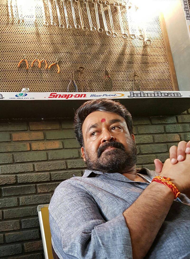 Actor Mohanlal @ Janatha Garage on Sets Images