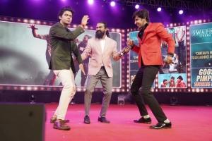 Naveen Polishetty, Rahul Ramakrishna, Priyadarshi @ Jathi Ratnalu Movie Success Meet Stills