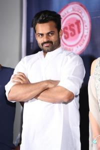 Actor Sai Dharam Tej @ Jawaan Movie Pre Release Function Stills