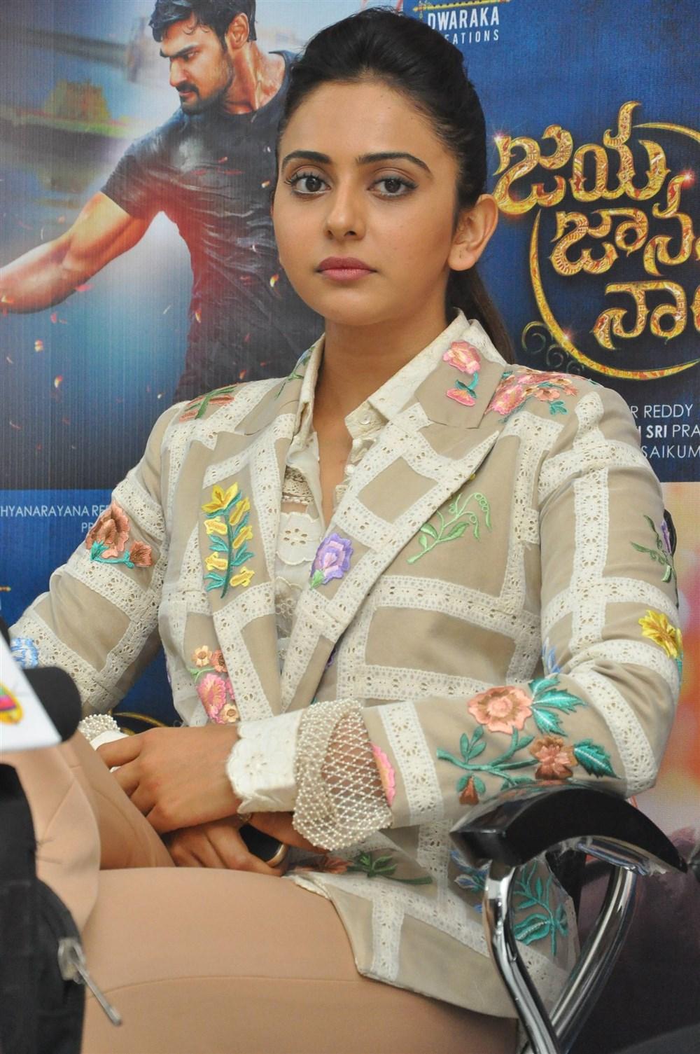 Actress Rakul Preet Singh @ Jaya Janaki Nayaka Movie Success Meet Photos