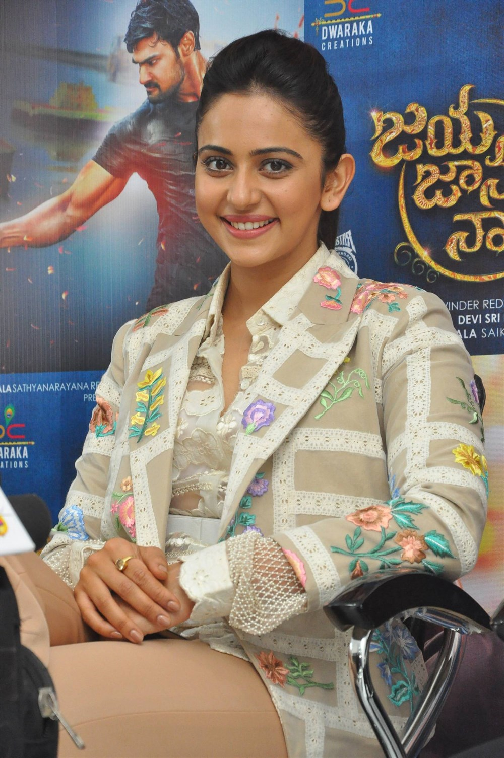 Actress Rakul Preet Singh @ Jaya Janaki Nayaka Movie Success Meet Photos