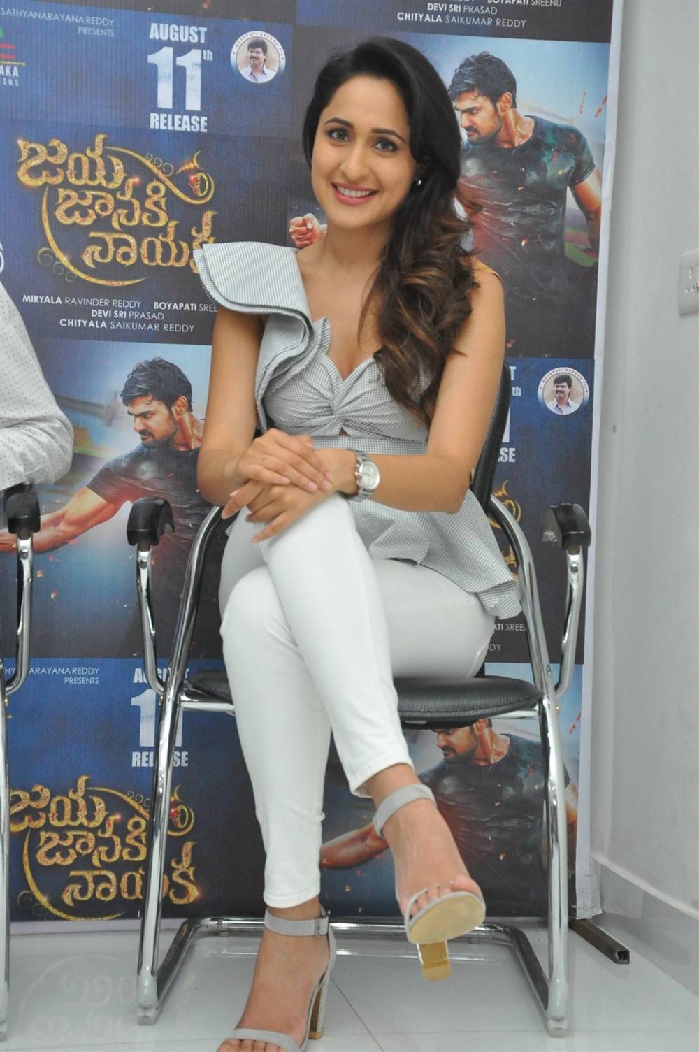 Actress Pragya Jaiswal @ Jaya Janaki Nayaka Movie Success Meet Photos