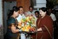 Actor Sivakumar wife Lakshmi welcomes CM Jayalalitha