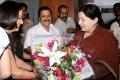 Actress Jyothika welcomes CM Jayalalitha.