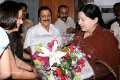 Actress Jyothika welcomes CM Jayalalitha.