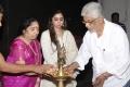 Aarthi Ravi, Editor Mohan @ Jayam Ravi - Vijay Movie Pooja Stills