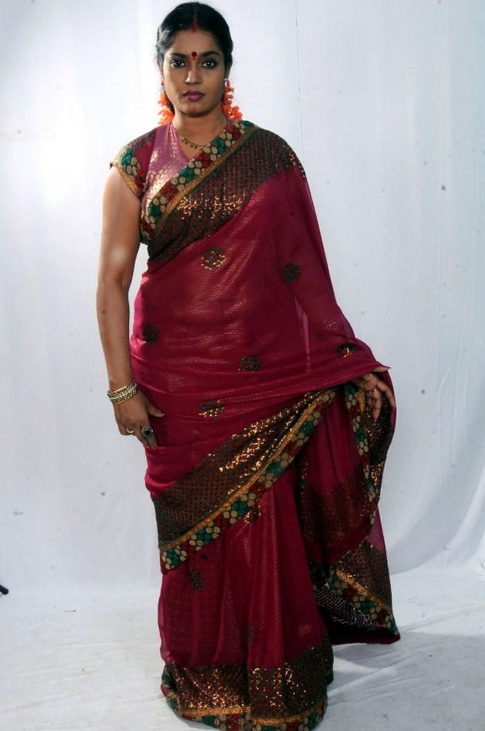Picture 377006   Telugu Actress Jayavani in Saree Photo ...
