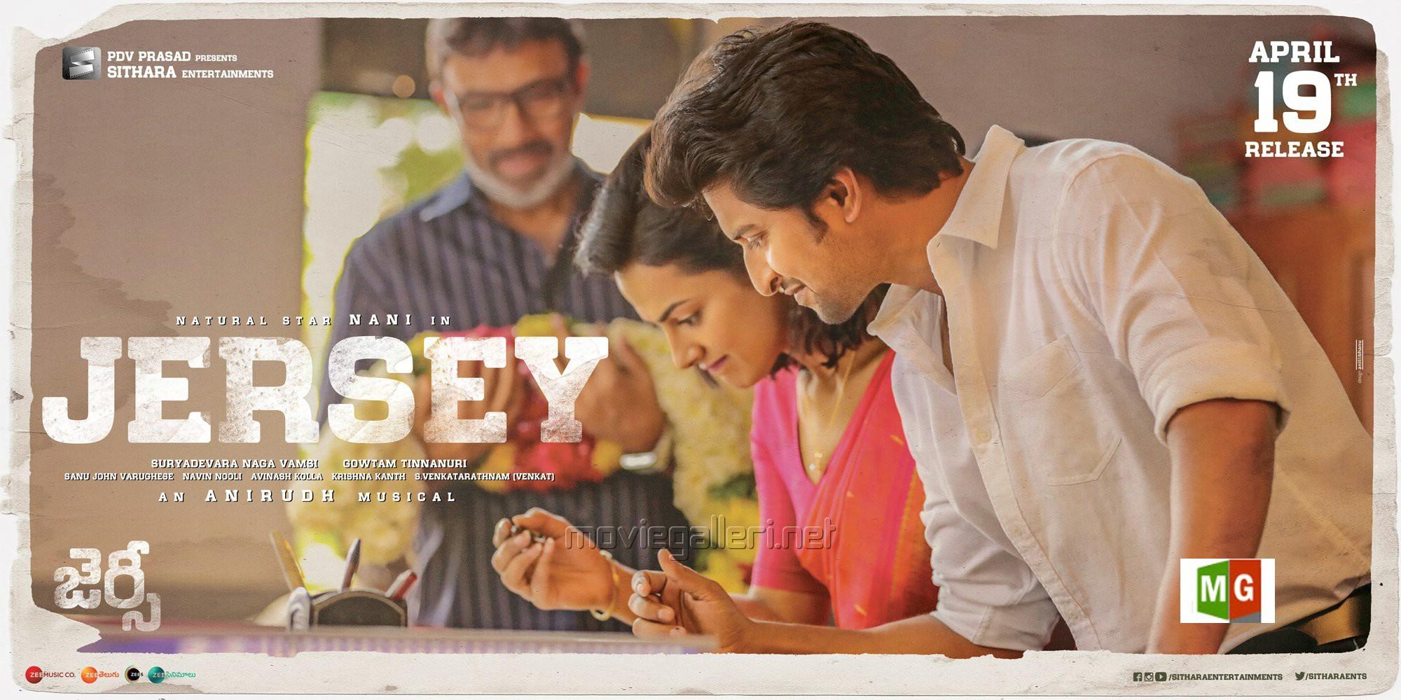 Shraddha Srinath, Nani in Jersey Movie Release Posters