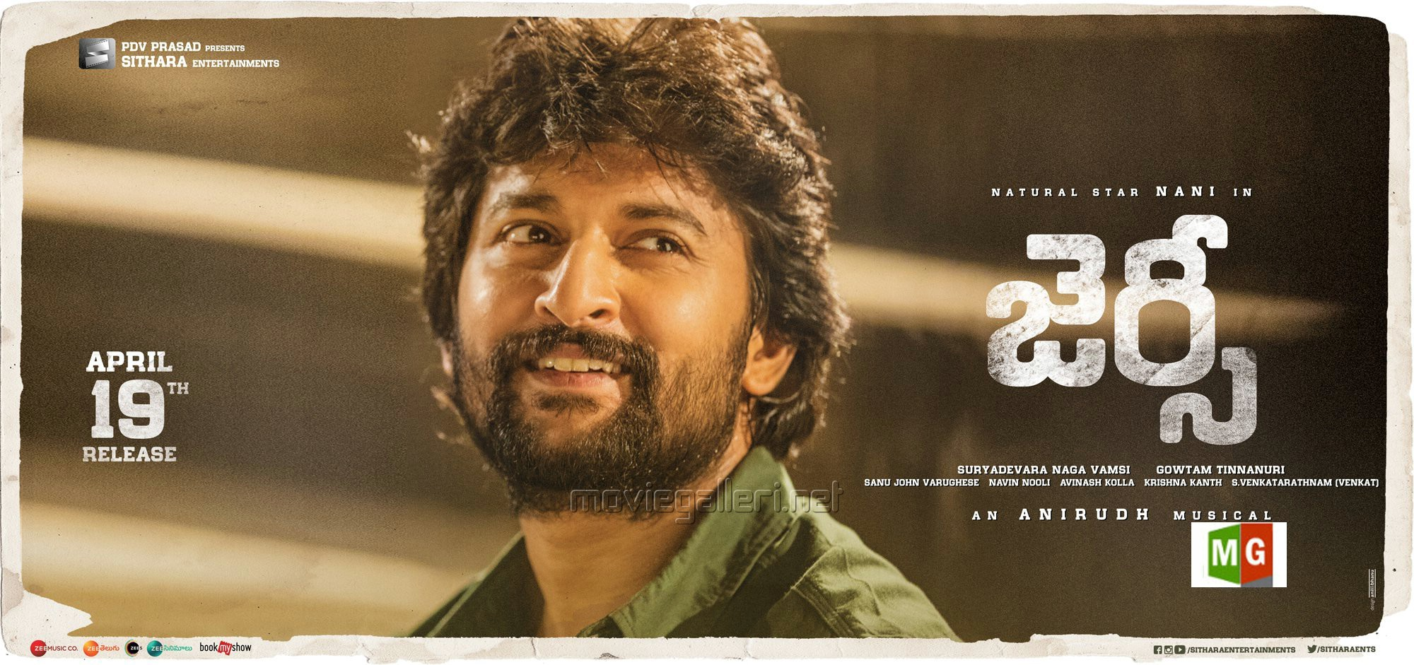 Nani in Jersey Movie Release Posters