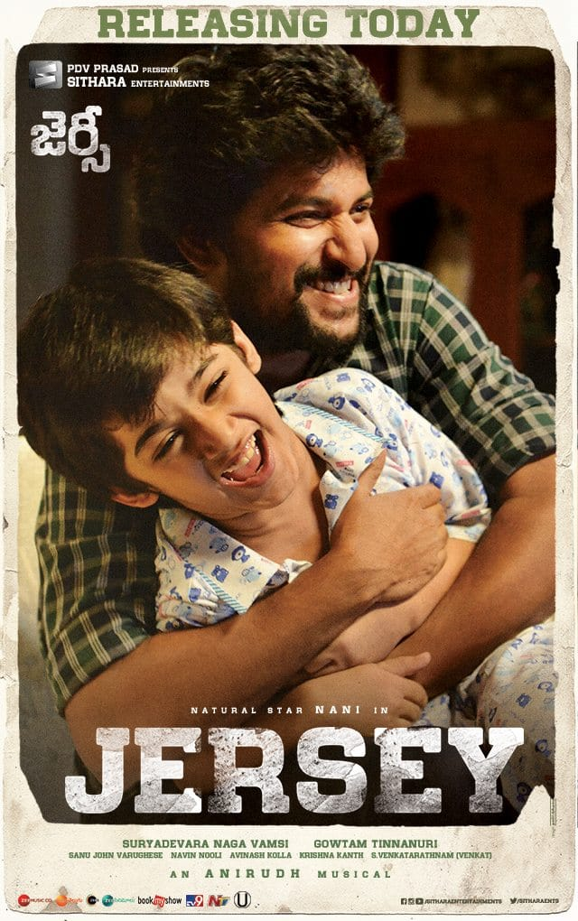 Nani, Ronit Kamra in Jersey Movie Release Today Posters