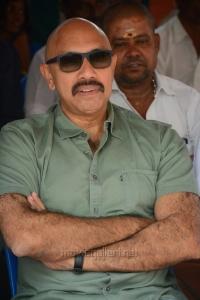 Actor Sathyaraj @ Jeyikkira Kudhira Movie Launch Stills