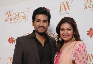 Vijay Yesudas with wife Darshana at JFW Women Achievers Awards 2013 Function Photos