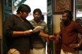 Karthik Subbaraj, Simhaa @ Jigarthanda Movie Working Stills