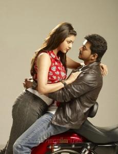 Hot Kajal Agarwal & Vijay in Jilla Movie Photo Shoot Images