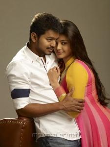 Vijay, Kajal Agarwal in Jilla Movie Photoshoot Stills