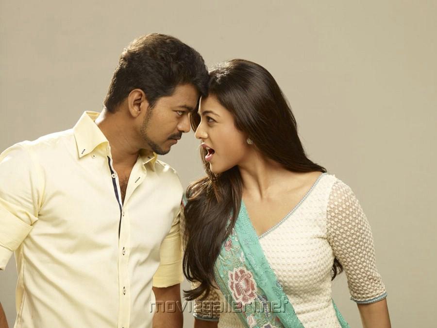 Vijay, Kajal Agarwal in Jilla Movie Photo Shoot Images