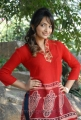 Telugu Actress Ziya Photos in Red Top and Blue Jeans