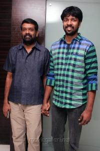 Vasanth, Madhan Karky @ JK Enum Nanbanin Vaazhkai Audio Launch Stills
