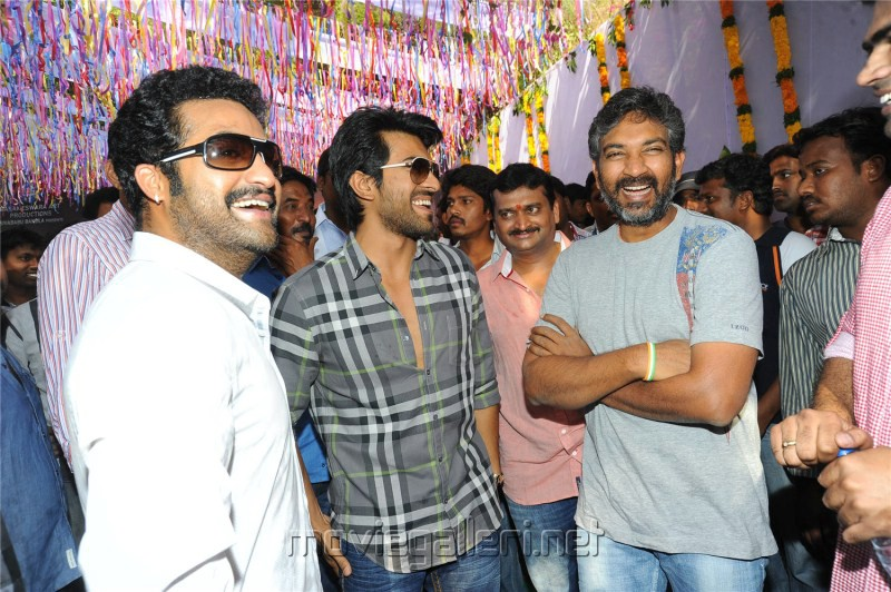 SS Rajamouli at Jr NTR Badshah Movie Opening Stills