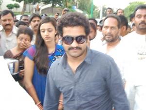 Jr NTR Lakshmi Pranathi visits Tirupati Temple Photos
