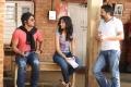 Allu Arjun, Ileana, Trivikram Srinivas at Julayi Working Stills