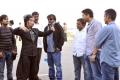 Trivikram Srinivas, Peter Hein at Julayi Working Stills