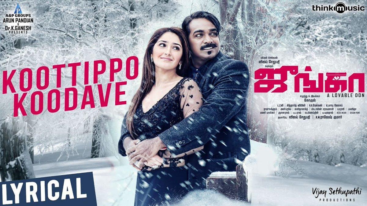 Sayesha Saigal Vijay Sethupathi Junga Single Release Posters