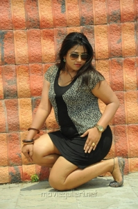 Telugu Actress Jyothi  in Short Dress Hot Photos