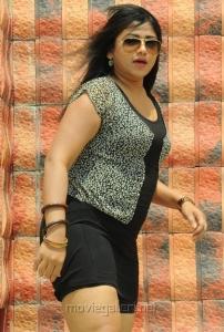 Telugu Actress and Item Girl Jyothi in Hot Short Dress