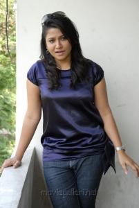 Actress Jyothi in Blue Dress Hot Pics