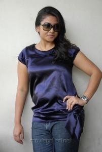 Telugu Actress Jyothi in Blue Dress