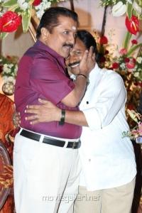 Sivakumar, AM Rathnam at Jyothi Krishna Aishwarya Wedding Reception Stills