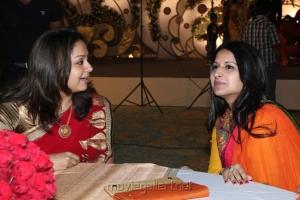 Jyothika, Sangeetha Vijay at Jyothi Krishna Aishwarya Wedding Reception Stills